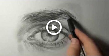 "Akiane - ""Drawing an Eye""  Demo # 1"