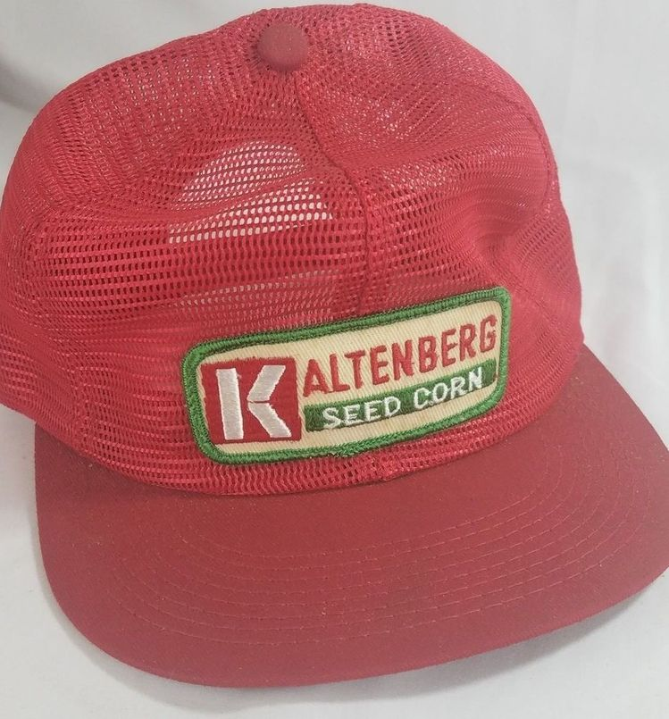 485618505b5 Vtg Kaltenberg Seed Corn Trucker Hat K Products Cap All Mesh Snapback Red  Patch  KProducts  TruckerHat