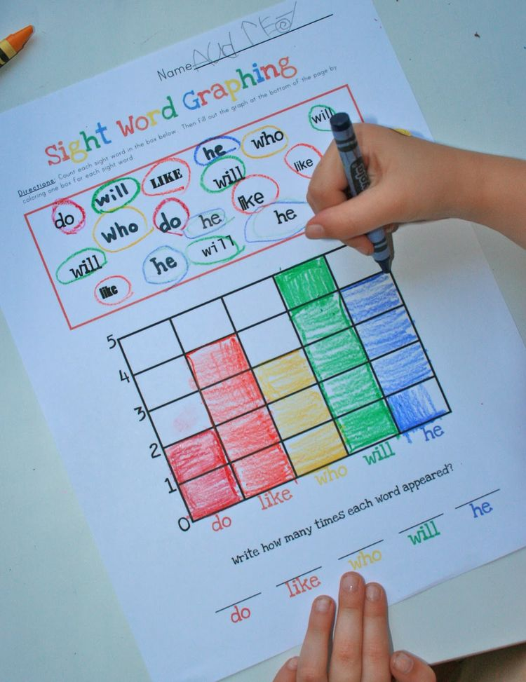 sight word graphing good idea can adapt for more diffic