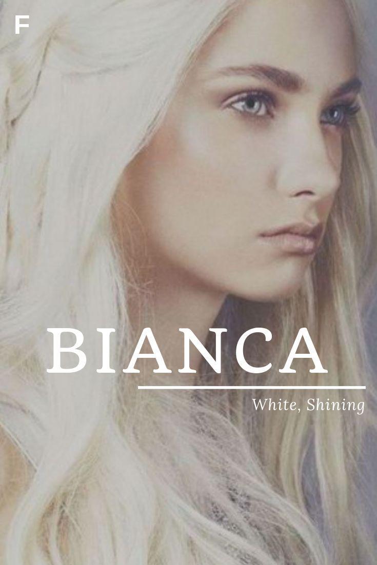 Bianca, que significa branco, brilhante, nomes italianos,