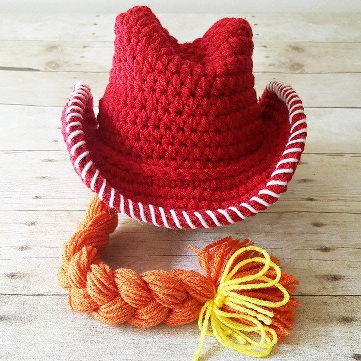 ccb9a01f5aa Crochet Jessie Toy Story Cowboy Cowgirl Hat Country Western Beanie Bonnet  Newborn Infant Baby Toddler Child Photography Photo Prop Shower