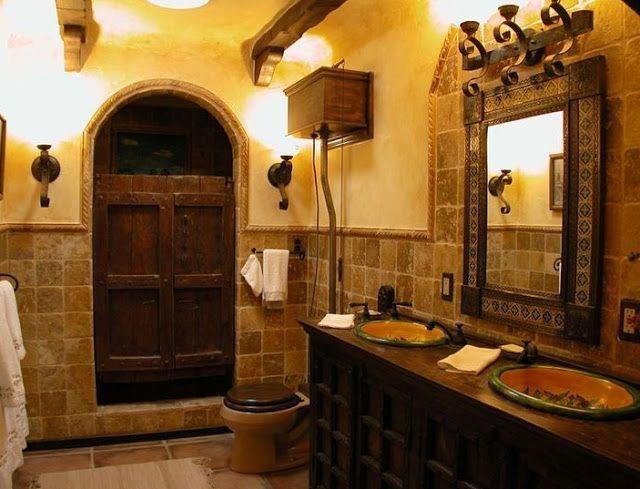 House Ideas Decorating Spanish Style Bathroom Vanity Spanishstylehomes