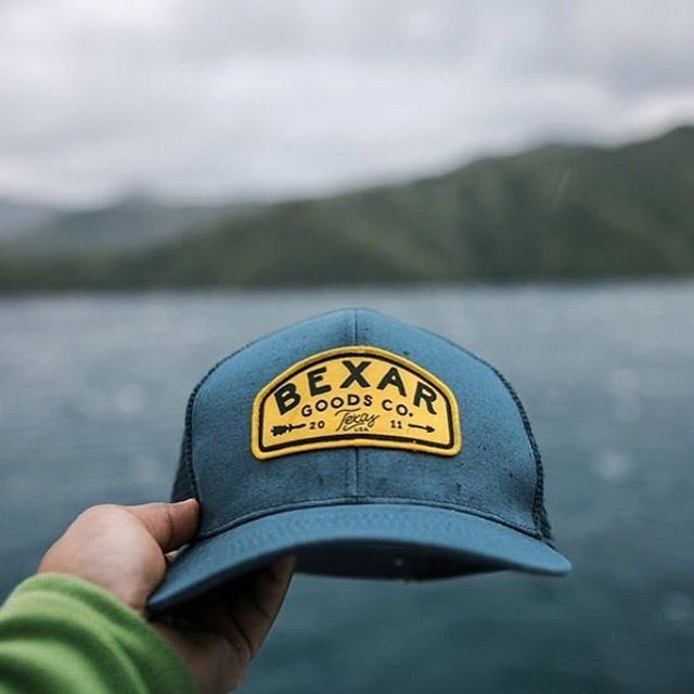 7f59501a3c6 Custom Deep Fit Cotton Twill and Trucker Mesh Constructed Six Panel  Snapbacks for  bexargoods ! Branding Options Include  Front Woven Patch  with Merrow Edge ...