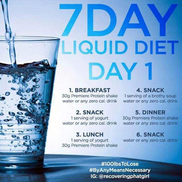Pre Op Diet For Gastric Sleeve Surgery Liquid Diet Menu