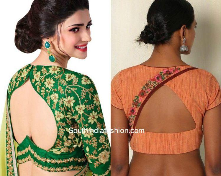 67a5708b2e3a98 Cut Out Blouse Designs for Designer Sarees