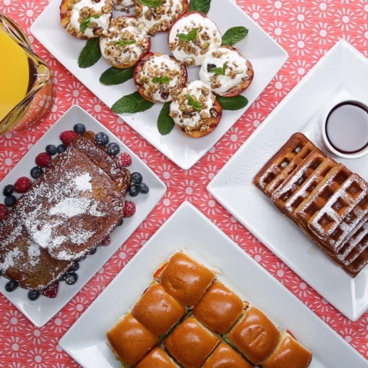 Batch Breakfasts 4 Ways #breakfast #sandwich #parfait #fruit #bacon