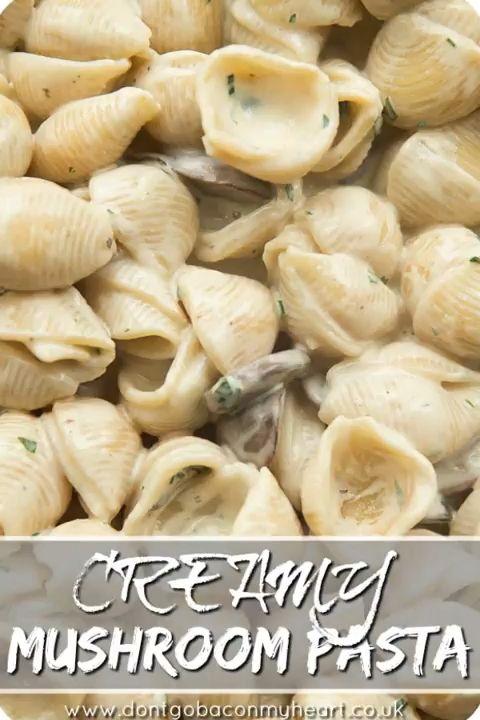 Creamy mushroom pasta 🍝