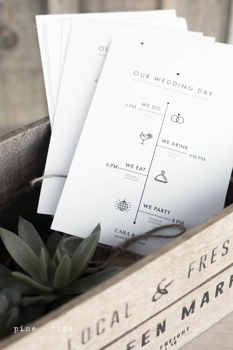 create these minimal rustic wedding program fans right a