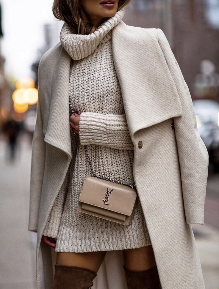 40+ MUST HAVE CASUAL WINTER OUTFITS THAT LOOK EXPENSIVE - the best cold weather casual winter outfits for women that still look good! If you're looking for women's coats, winter style inspiration, casual winter fashion and winter ootd looks, take inspiration from these fashion bloggers to create the best casual outfits for winter! Image ©️️ MiaMiaMine | White coat outfit & white sweater dress #winteroutfits #winterfashion #winteroutfitideas #casualoutfits #casualwinteroutfits
