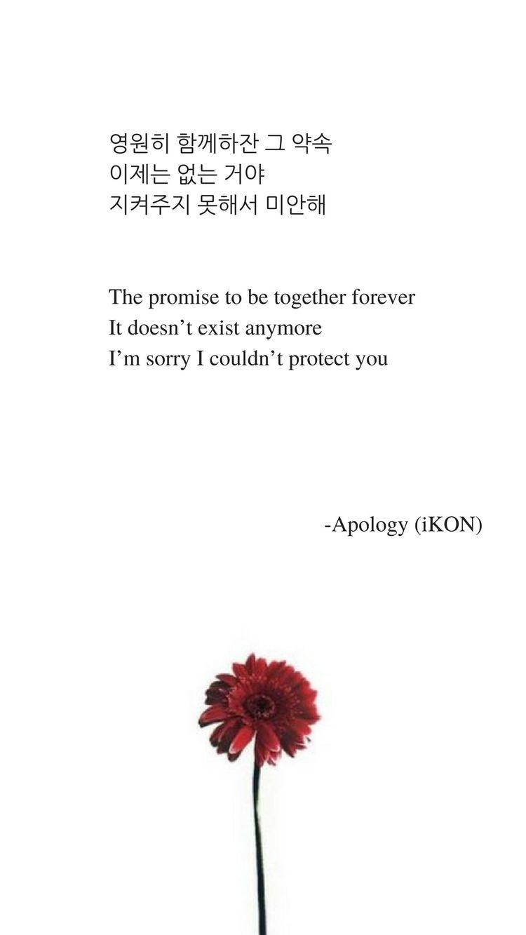 Apology by iKON Lyrics wallpaper