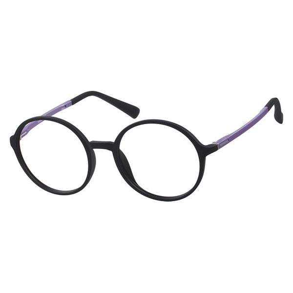 12458b0574f 126921 Women s Purple   Black Round Eyeglasses