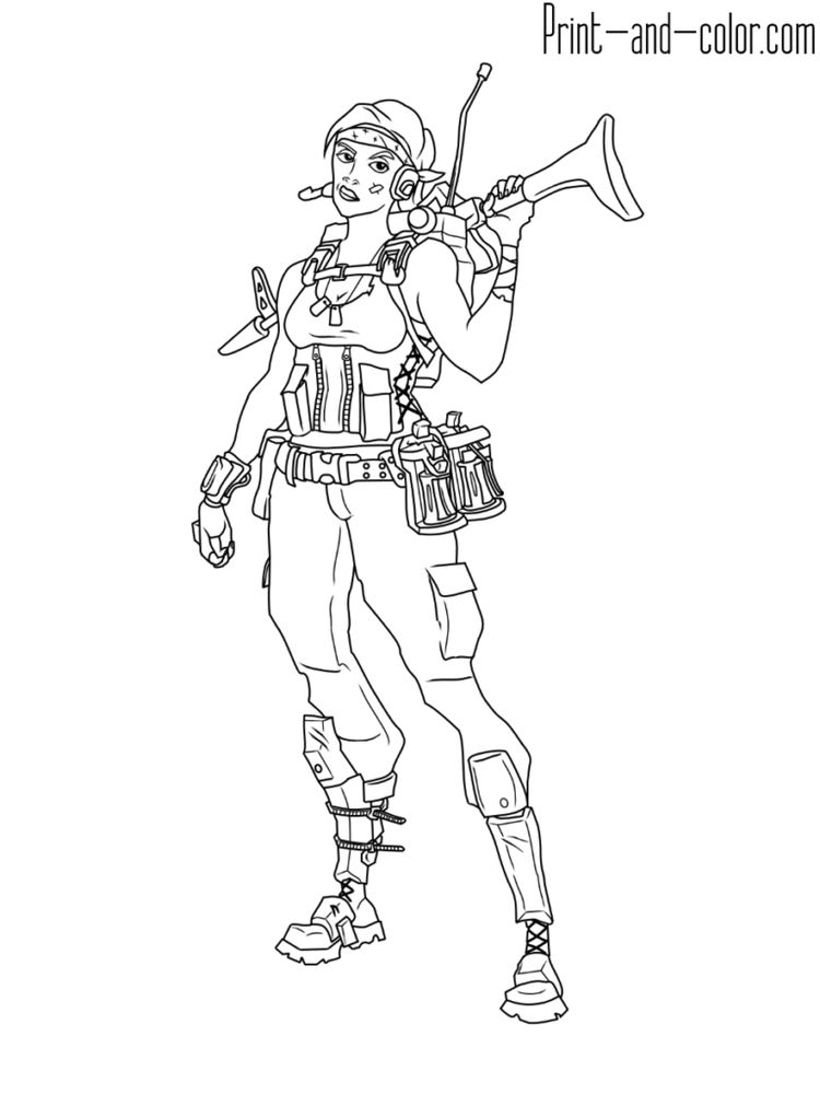 Fortnite Coloring Pages Print And Color Kleurplaten