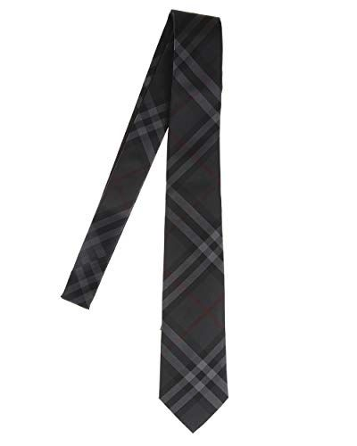 d446b5bbded7 Burberry Manston Charcoal Check Neck Tie
