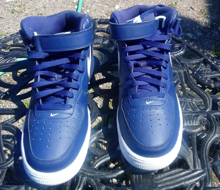 blue white nike air force 1 high top 8.5  fashion  clothing  shoes   accessories  mensshoes  athleticshoes (ebay link) 1e2eb2fa5