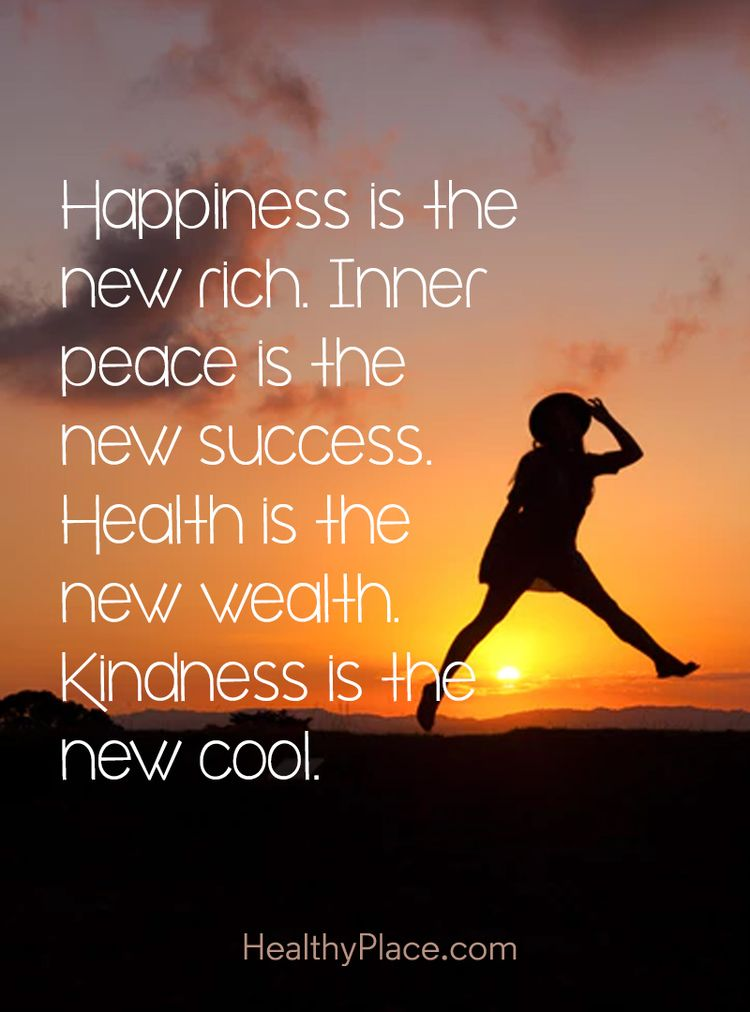 Positive Quote Happiness Is The New Rich Inner Peace Is T