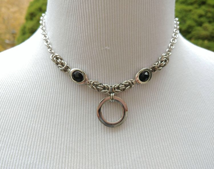 24/7 Wear Discreet Symbolic O Ring Day Collar Necklace, BDS