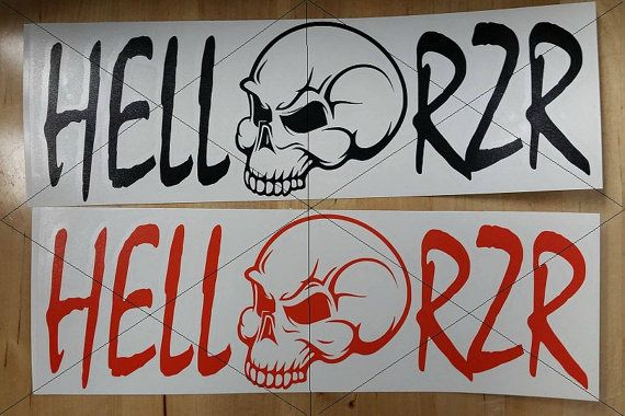 Items similar to Hell RZR Vinyl Decal 4