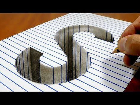 Desenhando Gotas de Água no Papel de Linha - Como Desenhar Gotas 3D - VamosART