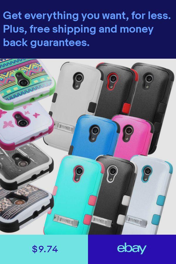 hot sale online dfa60 d947d For Motorola Moto G EXT Moto E 2nd Gen TUFF Stand Hybrid Ha