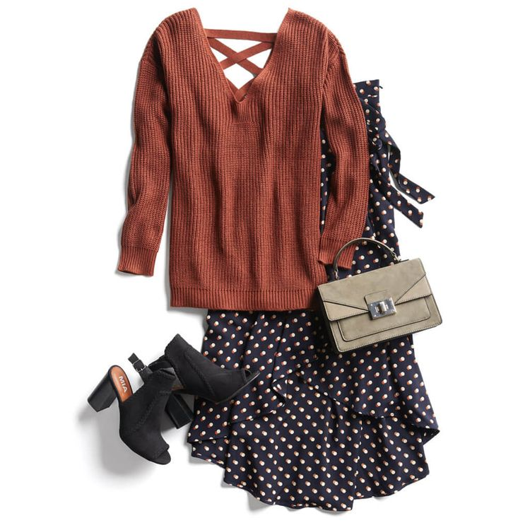 Skirt, dress? What is that? Love the hem and flow.  Like the cozy look of this whole ensemble, minus the shoes.