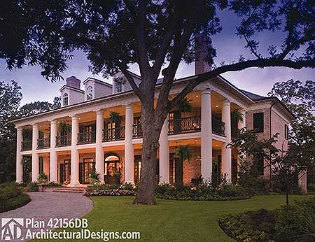 Plan 42156DB: Your Very Own Southern Plantation Home on southern colonial wedding, country house plans, tuscan house plans, southern mansion plans, southern living house plans, southern colonial additions, craftsman house plans, ranch house plans, cape cod house plans, estate house plans, federal house plans, victorian house plans, southern colonial design, large house plans, european house plans, southern duplex house plans, vintage house plans, farmhouse house plans, southern small house plans, mediterranean house plans,