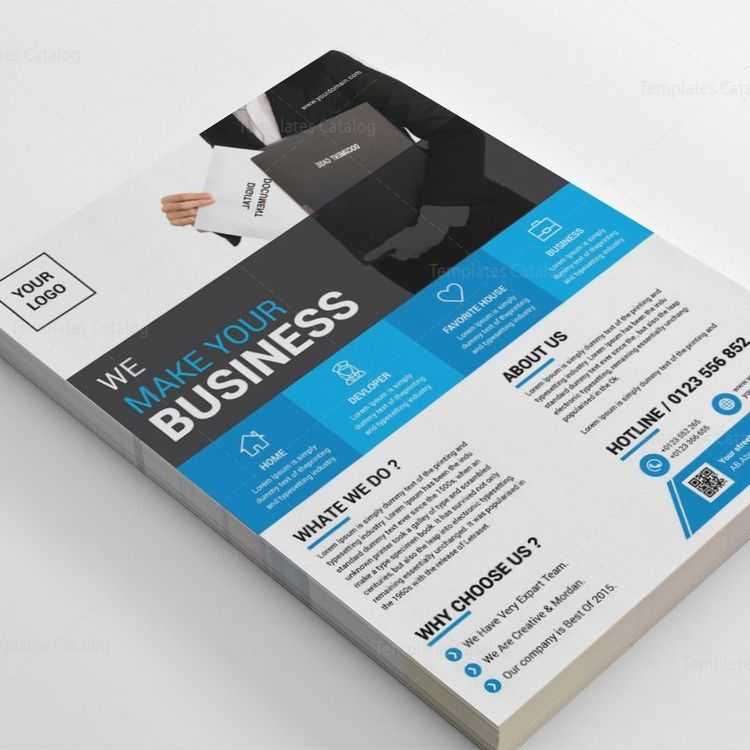 Columbia Creative Business Flyer Design Template - Graphic Templates