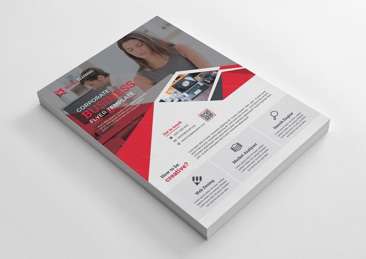 Language Course Print Flyer Design - Graphic Templates