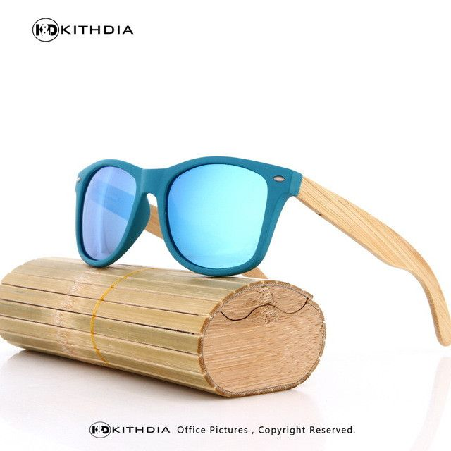 80909e0cf84ae KITHDIA Bamboo HD Polarized Sunglasses - 7 Colors