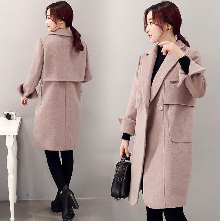 b7fd1b6c2187 Winter Womens Long Sleeve Wool Coat Lapel Parka Jacket Cardigan Overcoat  Outwear #fashion #women