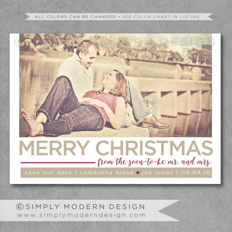 Christmas save the date card, marry christmas, save our da