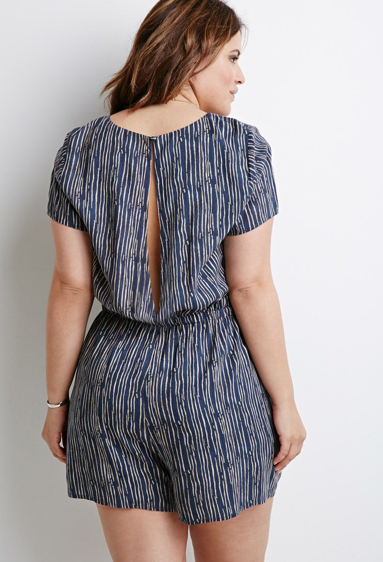 Abstract Print Romper | Forever 21 PLUS - 2000133452