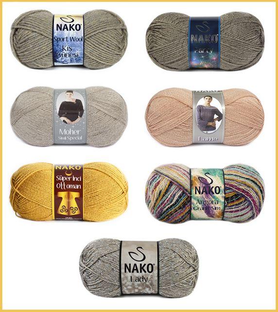 Birbirinden farklı dokuları bulabileceğiniz Nako Klasik ser