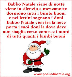 Poesie Di Nataleorg.Filastrocca Di Babbo Natale