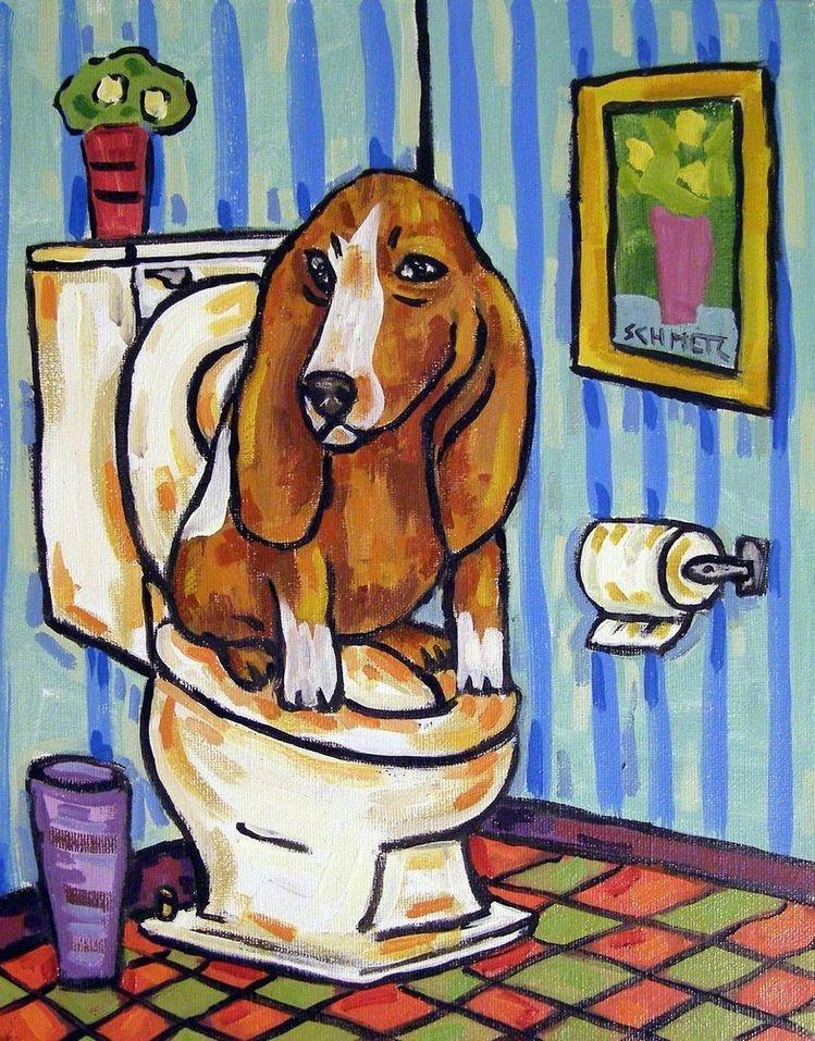 JACK RUSSELL dog library 11x14  art artist print animals impressionism