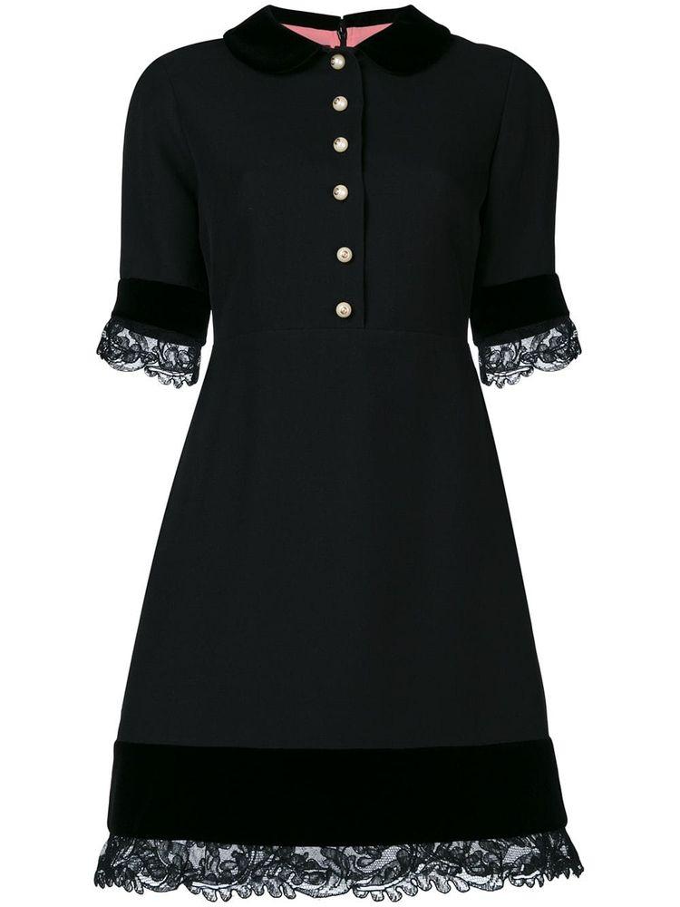 9a1d6a31c Gucci Lace Detail Dress - Farfetch
