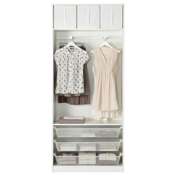 Ikea Pax Wardrobe White Bergsbo White