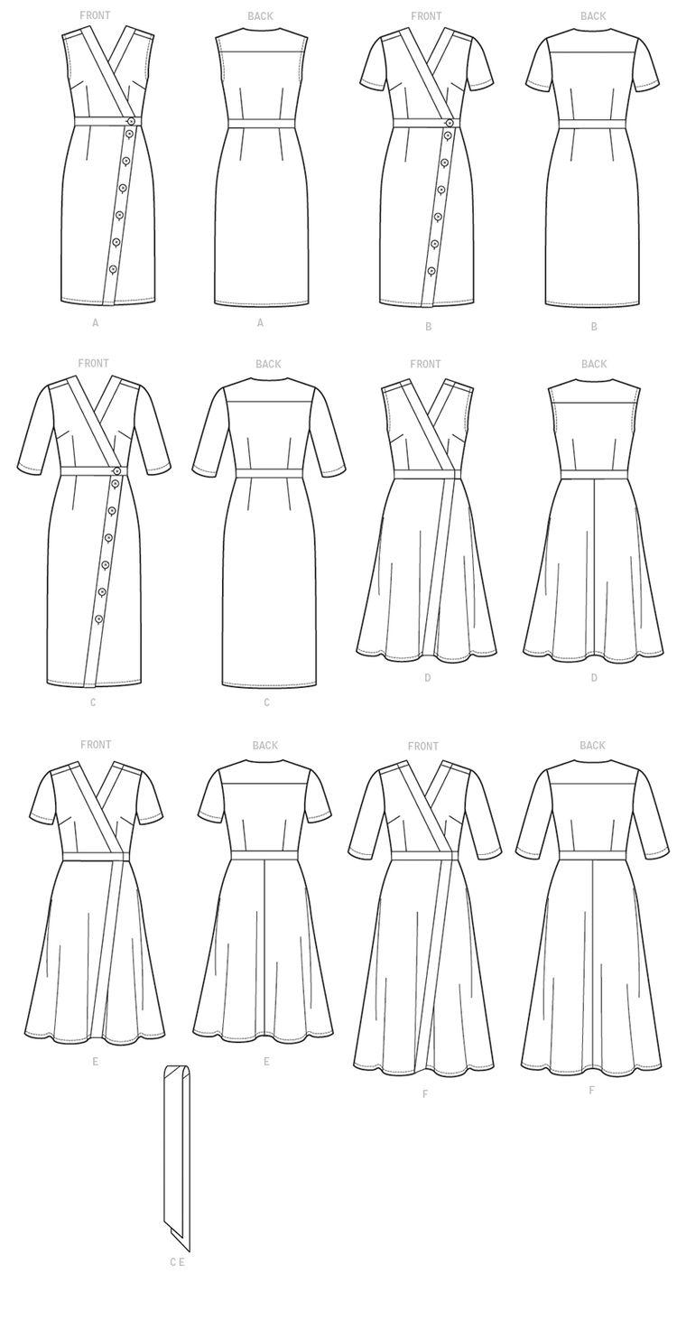 a765d46adbe1d V9313 | Misses' Dress and Sash Sewing Pattern | Vogue Patt
