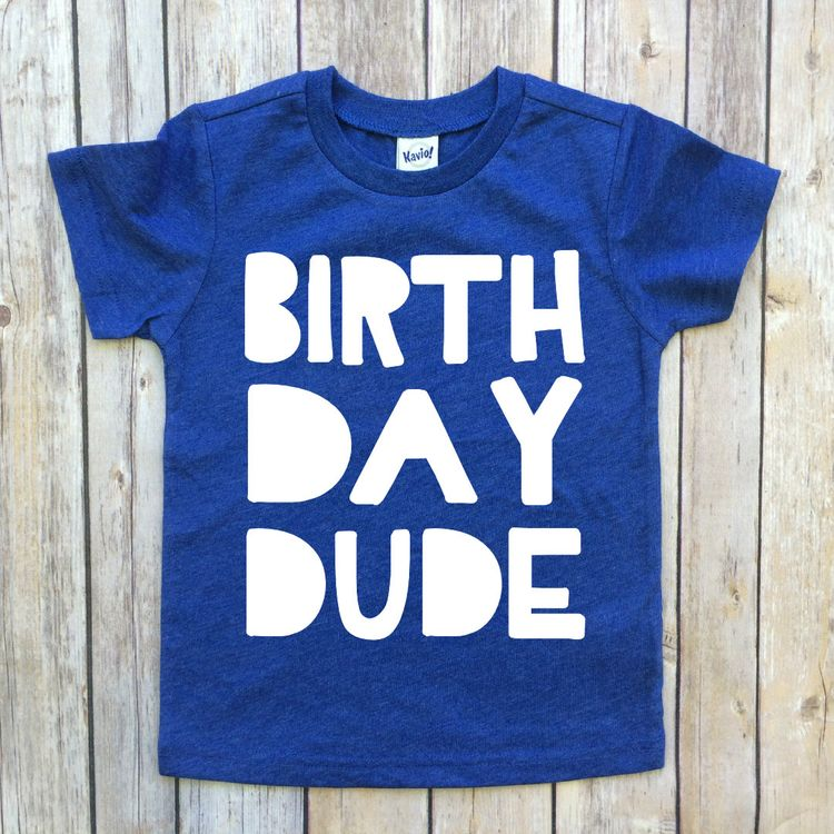 Boys Birthday Shirt Tee Dude Toddler T Shirts Boy