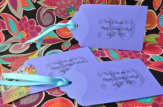30th Birthday Party Favors Lottery Ticket Holders Personalized Partiy Ideas