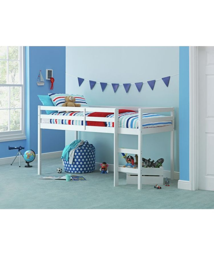 Buy Kaycie Mid Sleeper Shorty Bed Frame - White at Argos.c on sleepy bed, rake bed, spencer bed, guardian bed, leo bed, sophia bed, summer bed, samantha bed, shotgun bed, stella bed, next bed, thomas bed, babydoll bed,