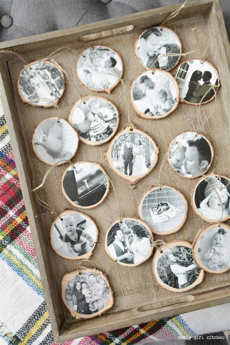 DIY Photo Ornaments, Christmas Decorations, Hot Chocolate Bar, Plaid Blankets, Christmas Tree, Red Velvet Cupcakes