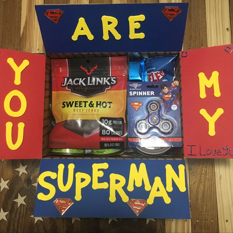 superman care package for long distance boyfriend - todaywedate.com