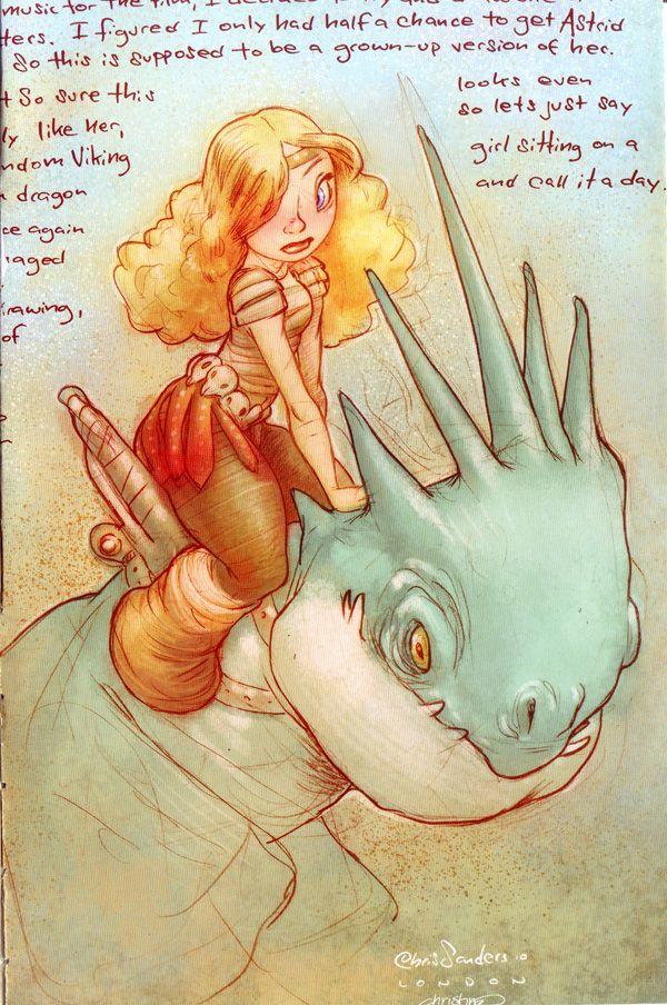 Uma menina e seu dragão