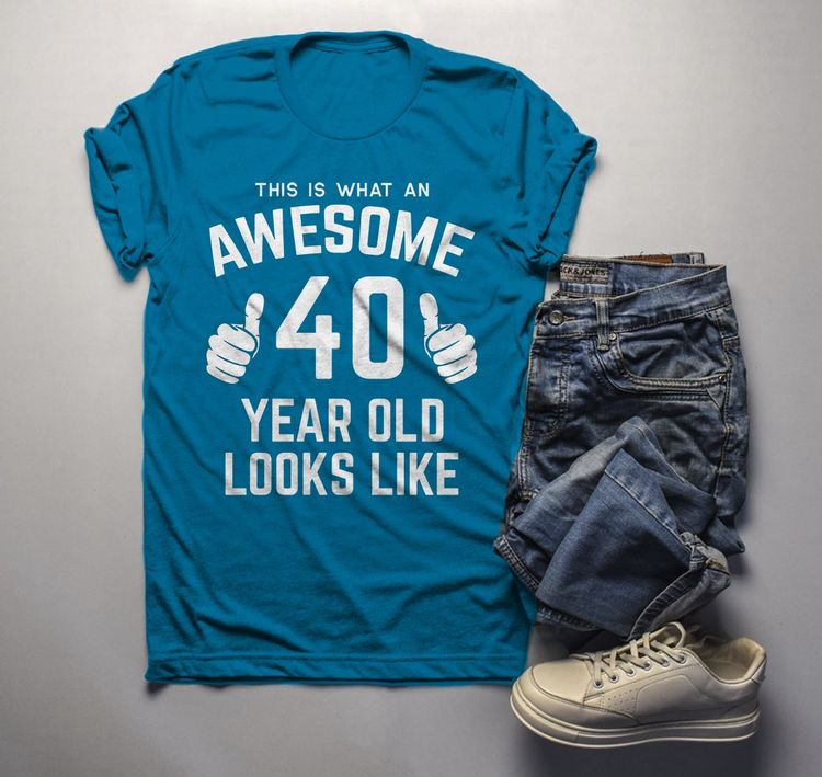e644534b9 Men's Funny 40th Birthday T Shirt This Is What Awesome Forty Year Old Looks  Like TShirt