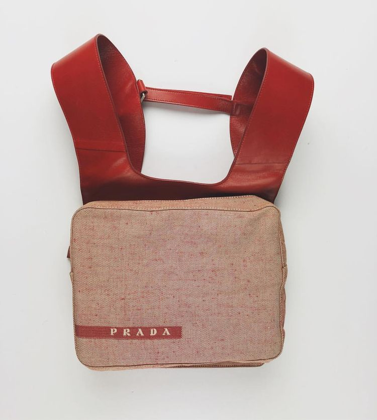 """ea49d1303a34 404 on Instagram: """"Prada Chest Rig/Backpack Circa 1999 (Red)"""""""