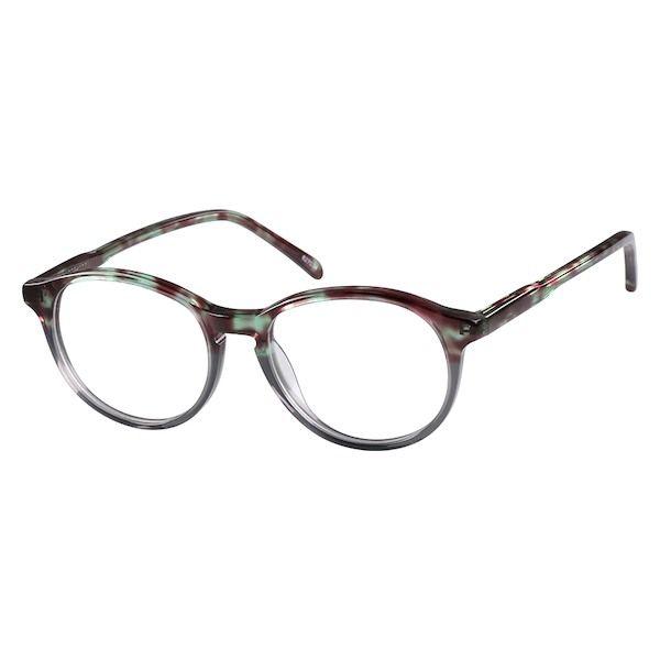 2151202d01 Zenni Round Prescription Eyeglasses Gray Plastic 627034