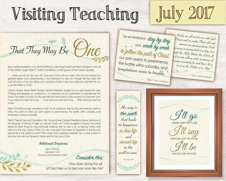 July 2017 Visiting Teaching Message, Relief Society Printa