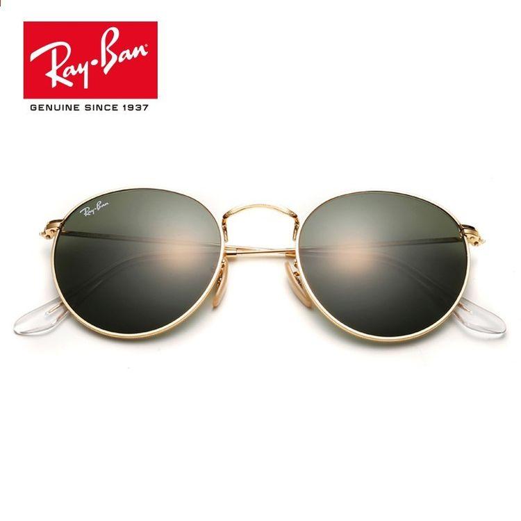 0473fc3c9fd2 Rayban 2018 Retro Runde Spejl UV Beskyttelse Lins Eyewear Tilbehør  Solbriller Til Mænd   Kvinder RB3447-001