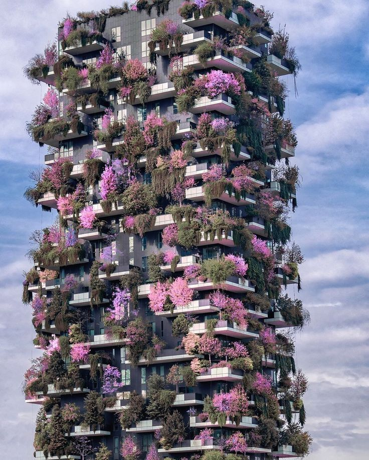 Bosco Verticale ? Milan, Italy. Photo by @kyrenian #nature