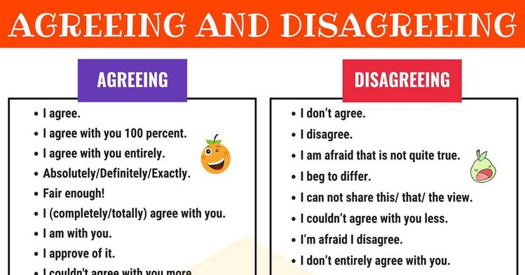 How To Express Agreement And Disagreement In English